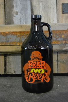 Show the world that you're not afraid to tackle the hoppiest, highest alcohol beers out there; bring on the one-off brews made with the strangest ingredients! - 64 oz brown amber glass bottle - Polyse