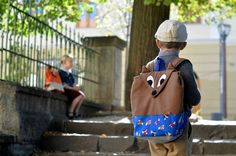 Earthy Colours at DaWanda Backpacks – FOX backpack, brown and blue, school bag, kids bag – a unique product by ritaboth on DaWanda