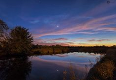 Venus dazzling in the western sky just a few minutes after sunset. Thanks to Justin B in Wauchula.