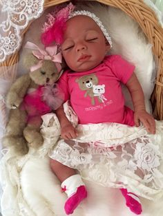 Completed Bi Racial Sidney Completed Reborn Baby Doll from the Baylee 21 inch…