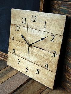 Rather than shopping for a store-bought clock, why not go ahead and make your own unique one? Here are some DIY Clock Ideas that I found around the web.