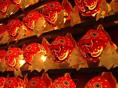 Traditional Kingyo Neputa(Golden Fish Neputa Lantern) in Aomori,Japan  @あろはろは日記:2008年09月