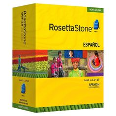 Rosetta Stone Spanish (Latin America) Level 1-5. If anyone has a copy they aren't using i will gladly take it off your hands. :)
