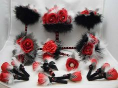 Wedding bits some used some new : Buy and Sell - Wedding Forums Red Flower Girl Dresses, Dress First, Christmas Wreaths, Red And White, Wedding Flowers, Buy And Sell, Holiday Decor, Stuff To Buy, Times