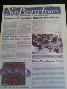 #tbt The Nov. 1995 edition of The NonProfit Times.