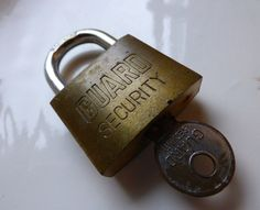 Guard Security Hardened Padlock  Made in USA  by ChicAvantGarde