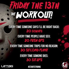Happy #FitnessFriday the 13th!  #startstrong