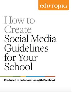 What would happen if social media were seen as a powerful tool rather than a threat to student learning? Schools and districts around the country are starting to put social media policies and guidel Teaching Technology, Technology Integration, Educational Technology, Student Learning, Digital Technology, Social Media Etiquette, Instructional Technology, Instructional Strategies, Teaching Strategies