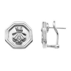 SLANE Bee Sterling Silver Earrings with Omega Style Back, Small