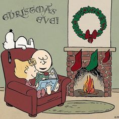 Too Cute! Snoopy, Charlie, and Sally reading by the fire on Merry Christmas Eve. Christmas Eve Quotes, Merry Christmas Eve, Christmas Pictures, Christmas Time, Christmas Palace, Cozy Christmas, Father Christmas, Christmas Cookies, Christmas Wreaths