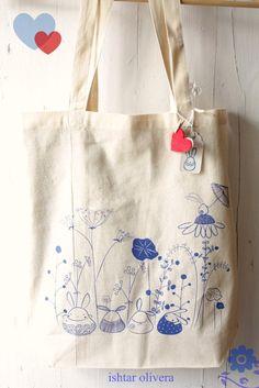 Draw something on your plain shopping bag