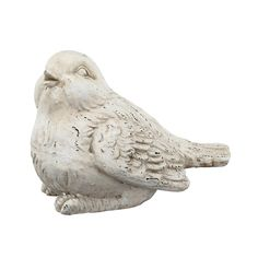 Truly cherubic and overflowing with charm, this charismatic bird sculpture is waiting to grace any home or garden with its larger-than-life personality. This piece features a playful expression lovingly rendered. While the white finish looks bright a Bird Sculpture, Sculptures, Bird Statues, Metal Birds, Ceramic Birds, Home Decor Outlet, Beautiful Birds, Accent Pieces, Decorative Accessories