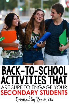 Looking for engaging activities for the fist days back to school with your middle or high school students? Room 213 has you covered!