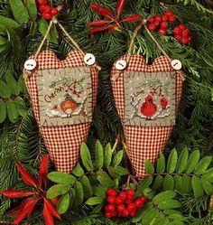 Victoria Sampler Button Up Your Heart 1 - Cross Stitch Pattern. Cherish and Love models both stitched on 28 count Dirty Cashel with Gentle Arts Sampler Threads, Cross Stitch Finishing, Cross Stitch Heart, Christmas Sewing, Christmas Cross, Cross Stitch Designs, Cross Stitch Patterns, Cross Stitching, Cross Stitch Embroidery, Christmas Embroidery Patterns