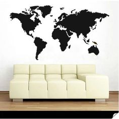 World map wall art world map large art for home or office world map wall decal gumiabroncs Image collections