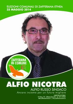 I nostri Candidati: Alfio Nicotra #ZafferanainComune #AlfioRussoSindaco