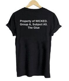 property of wicked maze runner tshirt back shirt Newt