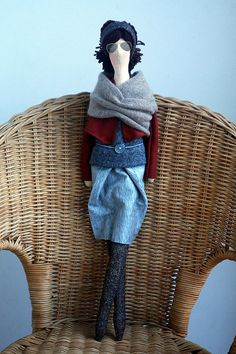 Custom OOAK Fabric Doll Made To Order by madebyagah on Etsy