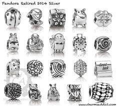 Liste des charms Pandora qui seront retirés de la vente en 2014. Dépéchez vous de les acheter en ligne sur www.bijoux-et-charms.fr ... Certains sont encore disponibles. #pandora #charms #retirés