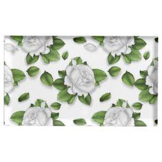 White Rose Pattern table card holder