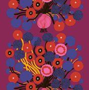 Annansilmä HW sateen fabric by Marimekko Motifs Textiles, Textile Patterns, Textile Prints, Textile Design, Fabric Design, Floral Patterns, Design Patterns, Surface Pattern Design, Pattern Art