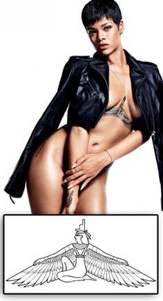 Rihanna tatouage temporaire déesse Isis