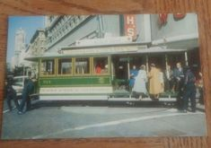 Postcard RPPC Ca San Francisco Market and Powell Eddy St Cable Car Turntable