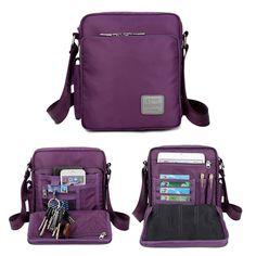 Women Men Nylon Waterproof Multifunctional Multi-pockets Shoulder Bags Crossbody Bags is Worth Buying - NewChic Mobile.