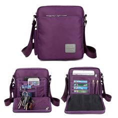 Waterproof Nylon Messenger Bag Multifunction Capacity Leisure Crossbody Bag - US$25.63