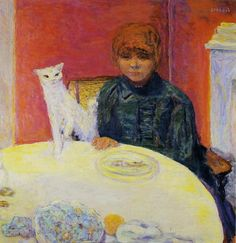 La femme au chat, Pierre Bonnard, Musee d'Orsay