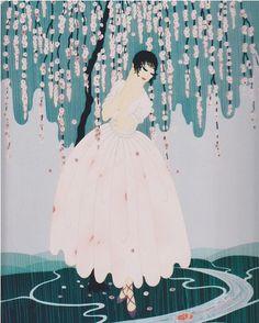 Erte's Blossom Umbrella