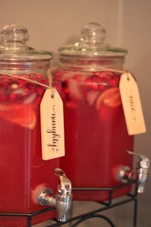 Cristmas Cranberry Lemonade Punch in a naughty (vodka added) and nice version. Recipe in the my dirty aprons blog.
