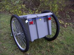 Yet Another Bicycle Trailer : 6 Steps (with Pictures) - Instructables Beach Trailer, Trailer Diy, Bike Cargo Trailer, Cargo Trailers, Tricycle Bike, Adult Tricycle, Trike Bicycle, Homemade Trailer, Small Caravans