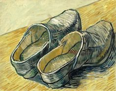 A Pair of Leather Clogs Vincent van Gogh - 1889  Van Gogh Museum - Amsterdam (Netherlands) Painting - oil on canvas  Height: 32 cm (12.6 in.), Width: 40 cm (15.75 in.