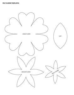 flower templates for felt - Google Search