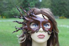 leather half face spiral mask by TBTOBEDESIGNED1