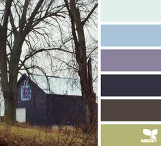 rural hues - really love the barn and the painted quilt!  I'm definitely going to make a quilt in this color scheme!