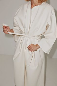 Claudia Bertini|Doubleface onesize wool coat