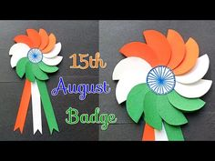 DIY Independence Day Badge/Making Indian Flag Badge/Indian Tricolor August Craft for Kids Independence Day Drawing, Independence Day Activities, Independence Day Decoration, 15 August Independence Day, Indian Independence Day, Happy Independence, Craft Activities, Preschool Crafts, School Board Decoration