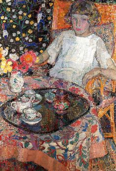 Leon De Smet, A Girl by the Table, 1921