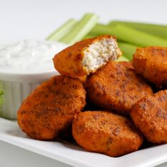 "Paleo Buffalo Chicken Nuggets - without all the ""junk"" definitely could ketofy these."