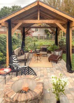 37 Stunning Gazebo Decorating To Make Your Backyard. Install an outdoor gazebo and revel in your backyard like you can't ever have before. If you think that your backyard is too open to curious onlookers. Backyard Gazebo, Backyard Patio Designs, Backyard Retreat, Backyard Landscaping, Backyard Ideas, Terraced Backyard, Cozy Backyard, Landscaping Ideas, Pavillion Backyard