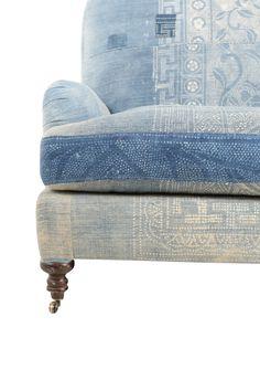 Waterford Indigo Couch | Found Vintage Rentals