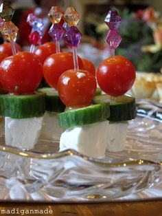 Called Greek Salad on a Stick, but without the olive. Looks good.