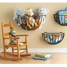 Garden Baskets for Toys from 25 Totally Clever Toy Storage Tips and Tricks