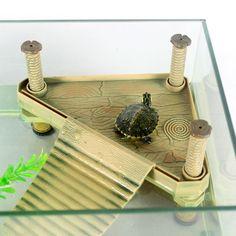 Turtle Island Climbing Basking Platform Turtle Frog Floating Island Aquatic Pet Reptile Supplies Turtle Tank Aquarium Ornament
