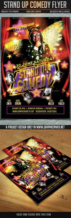 Stand Up Comedy Show Flyer Template Flyer template, Template and - comedy show flyer template