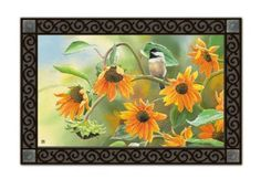 Magnet Works SUNFLOWER CHICKADEE MatMate Doormat Rug 18 x 30 by MatMates. $20.00. Optional 24 Inchs x 36 Inchs Decorative Tray (Sold Separately). Welcome mat size: 18 Inches x 30 Inches. Weatherproof for Outdoor Use. Non-Slip Recycled Rubber Backing. Artist: Joy Hall. SUNFLOWER CHICKADEE Mat by MatMatesTMThis MatMatesTM interchangeable doormat is made with a non-slip backing of environmentally-friendly recycled rubber tires. The top is nonwoven polyester, perman...