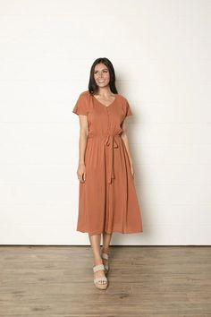 Modest Clothing, A-Line Button Dress, Modest clothes