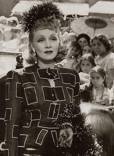 Marlene Dietrich, Seven Sinners, 1940 (gown by Irene)